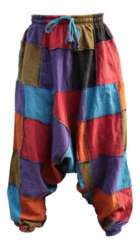 Unisex Hippy Patcwork Hippy Harem Trouser