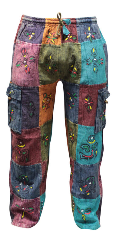 Womens Thin Patchwork Hippy Summer Trouser