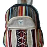Ezhippie Unisex Hemp Festival Striped Backpack,103