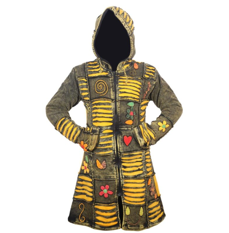 Shopoholic Fashion Festival Ethinc Look donna hippy costole con cappuccio