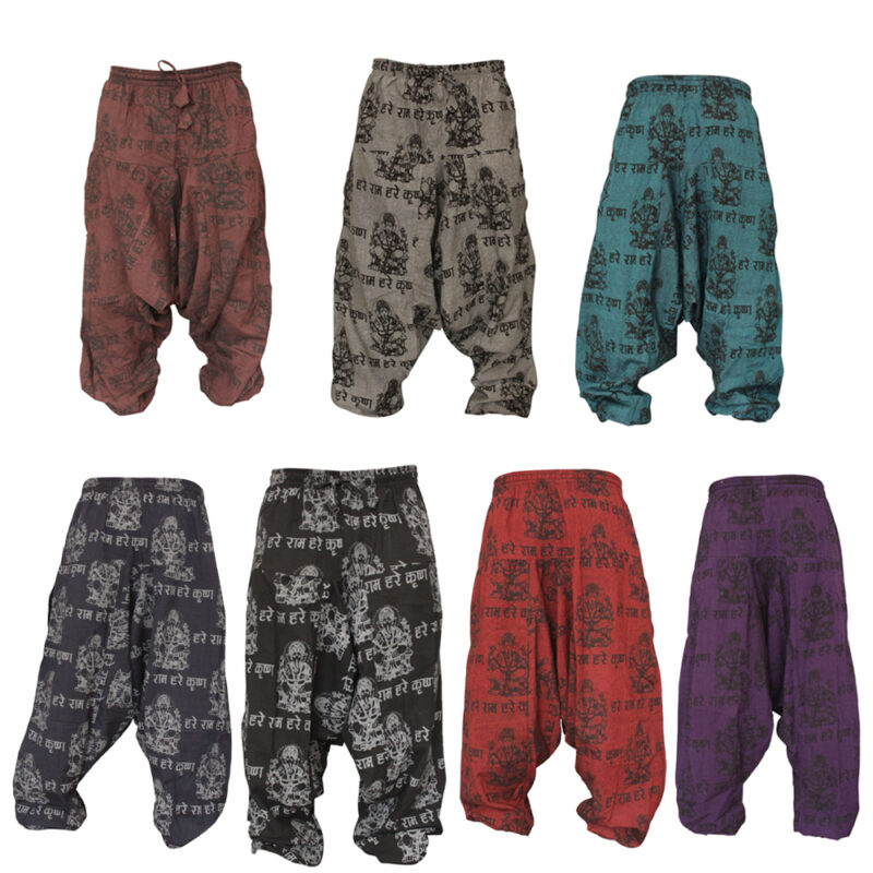 Unisex Light Weight Hippie Harem Pants Boho Trousers